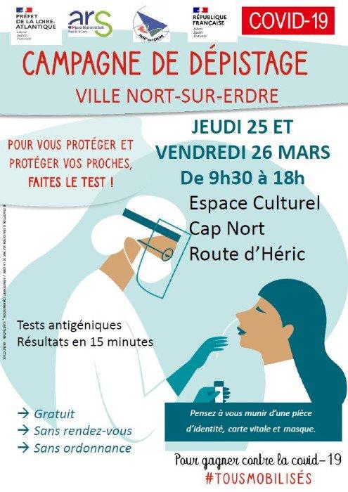 Covid : Campagne de dépistage les 25 et 26 mars
