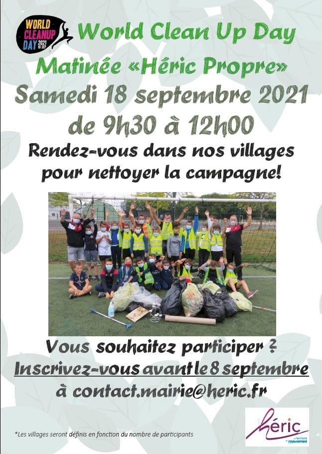 World Clean Up Day, la Matinée de Nettoyage à Héric le 18 septembre