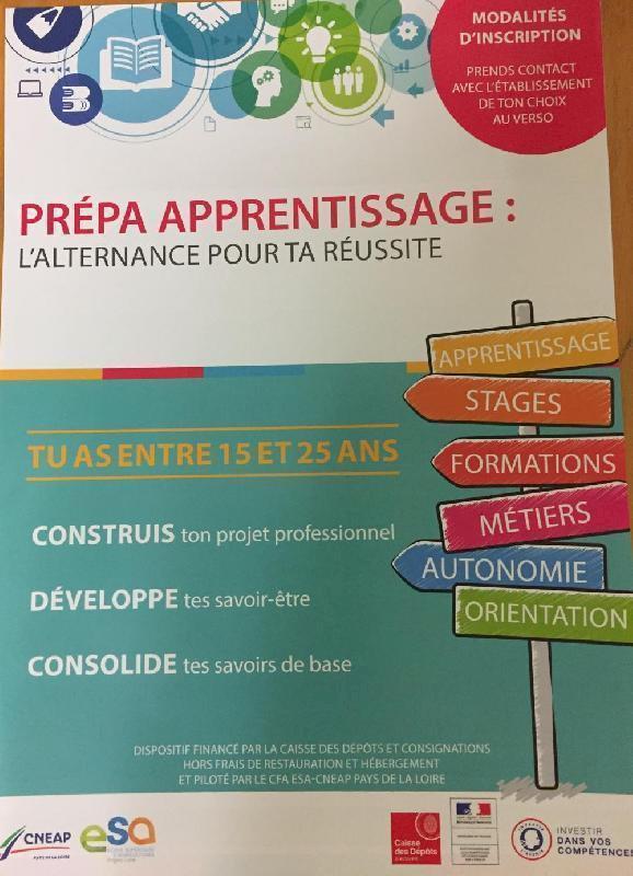 Prépa Apprentissage pour les jeunes de 15 à 25 ans