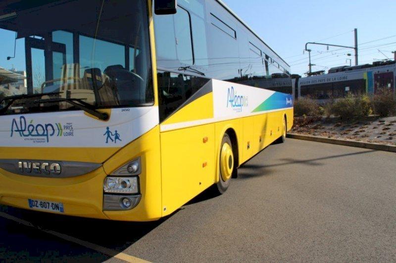 Un bus scolaire au fossé, à Chaumes-en-Retz