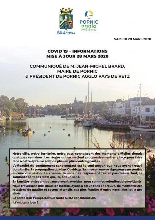 Communiqué de M. Jean-Michel Brard - Maire de Pornic