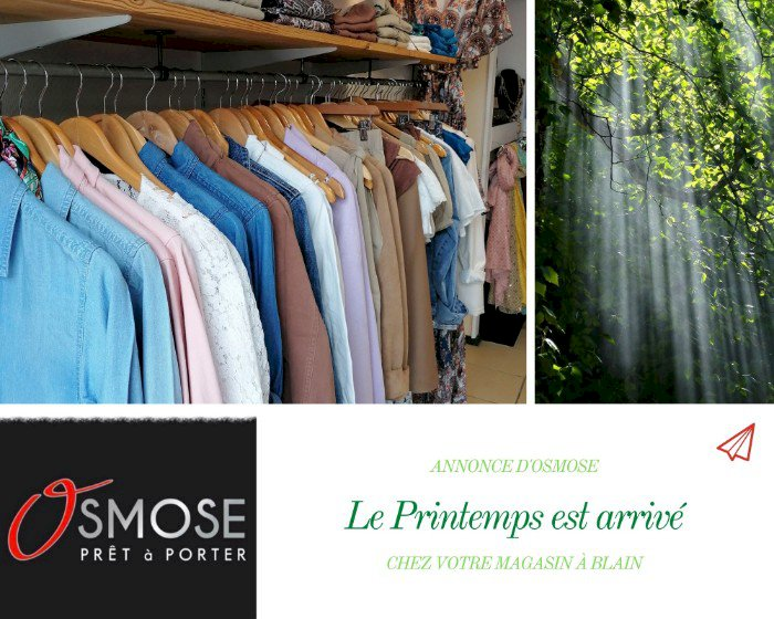 Osmose à Blain a reçu la collection printemps !!! 🐦