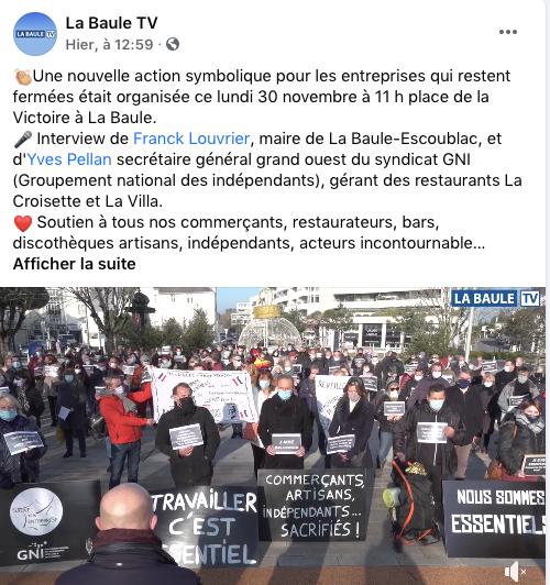 👏🏼 Nouvelle manifestation à La Baule