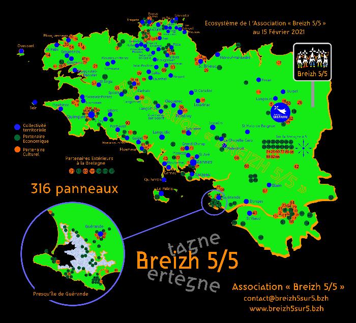 """L'écosystème de l'Association """"Breizh 5/5"""" au 15 février 2021"""