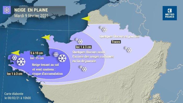 Un épisode de neige arrive, soyez prudents !