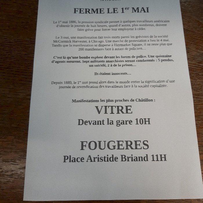 samedi 1er Mai