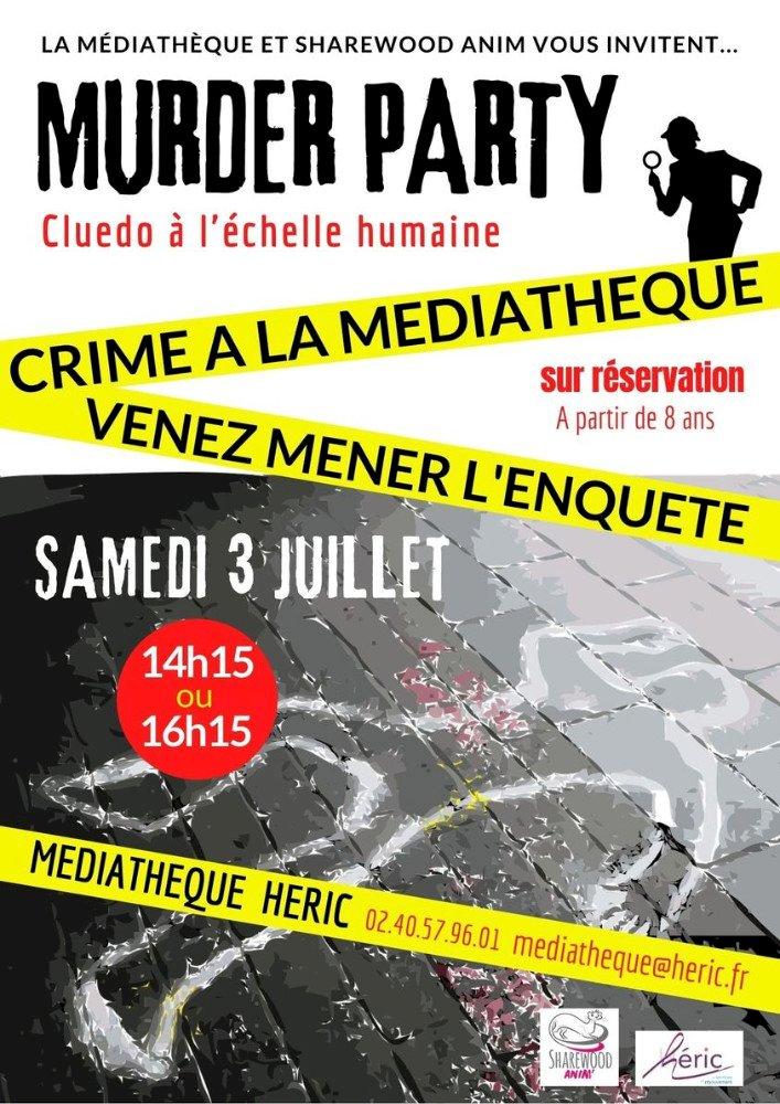 Murder Party à la médiathèque d'Héric