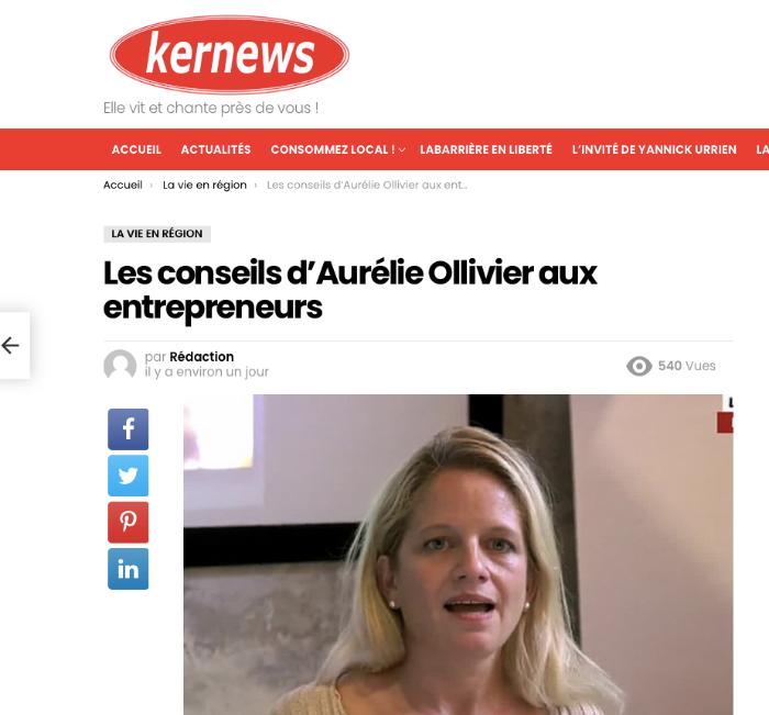 Les conseils d'Aurelie Ollivier aux entrepreneurs
