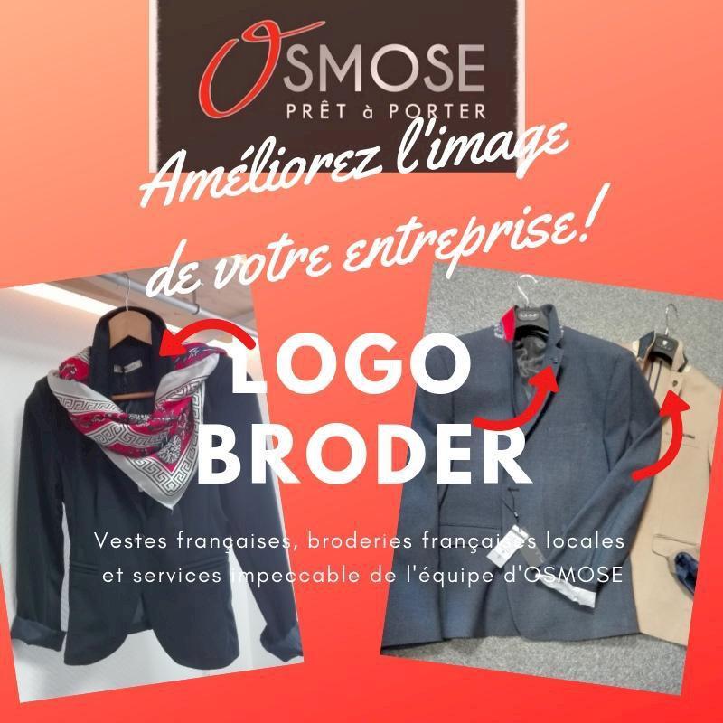 Osmose à Blain vous livre des vestes identifiées à votre logo d'entreprise