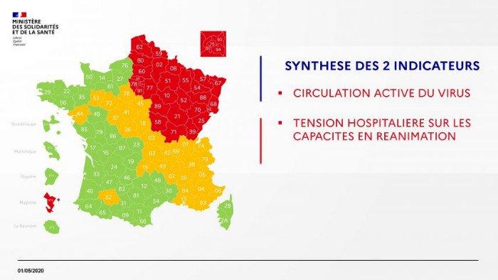 Carte du déconfinement : le point sur la situation en France