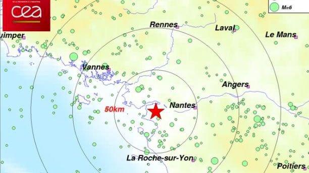 La terre a tremblé en Loire-Atlantique