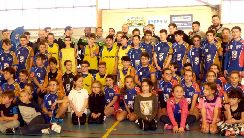 Handball: les joueurs du H assurent l'entraînement!