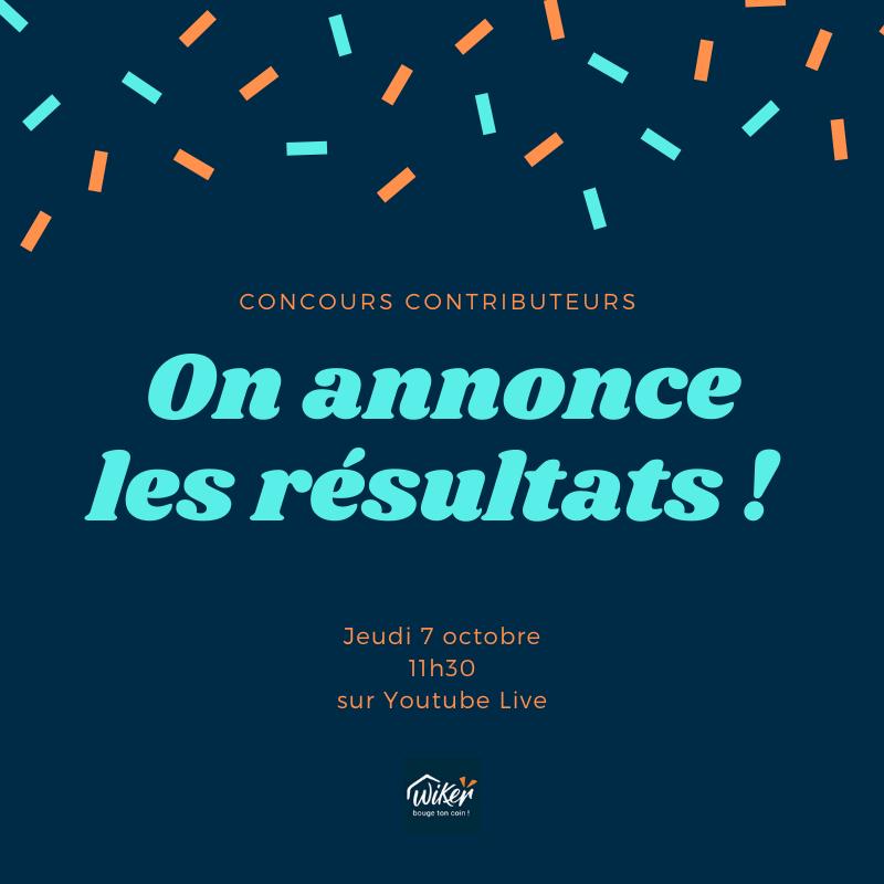 Résultats du concours contributeurs