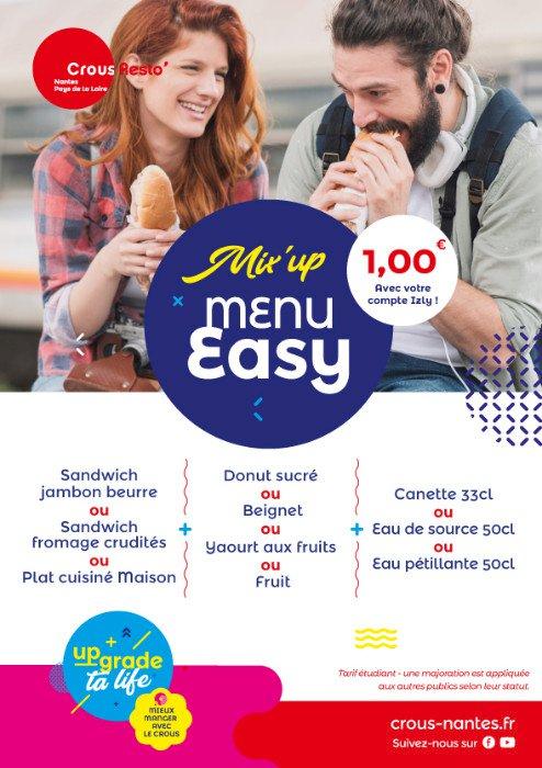Étudiants : 2 repas à 1 € par jour