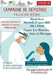 COVID-19 : Campagne de dépistage à Héric les 16 et 17 mars