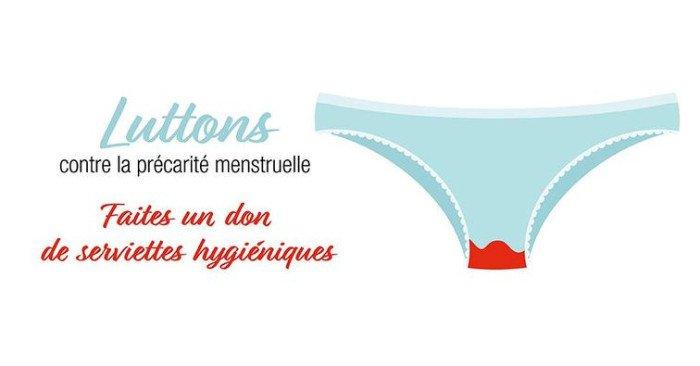 Don de protections menstruelles, du 6 au 10 avril