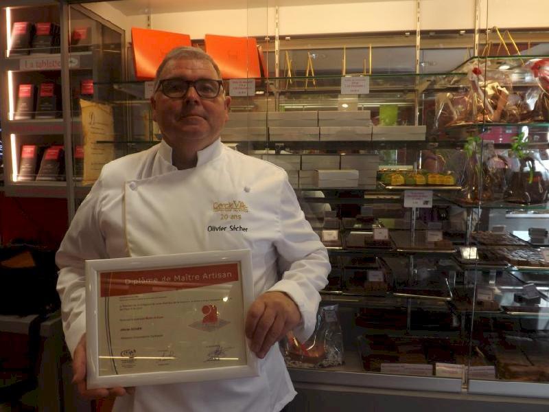 A Blain, le pâtissier Olivier Sécher nommé maître artisan par la Chambre des métiers