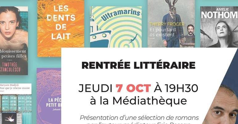 La littérature fait sa rentrée à La Médiathèque Sucé-sur-Erdre