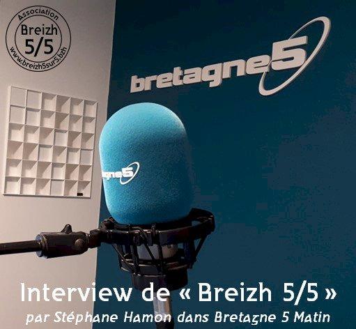 """""""Breizh 5/5"""" à la matinale de Stéphane Hamon sur """"Bretagne 5"""""""