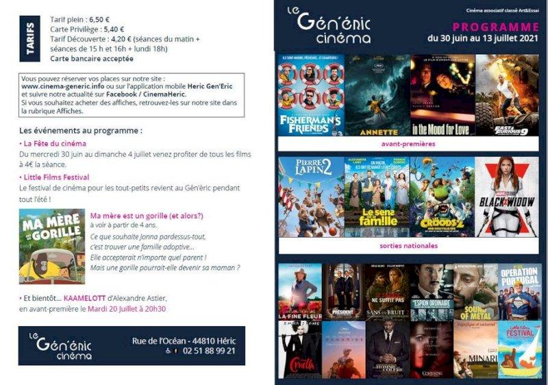 Cinéma, votre programme jusqu' au 13 juillet
