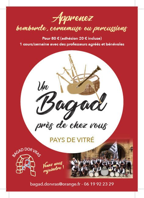 Bagad Dor Vras : inscription ouverte