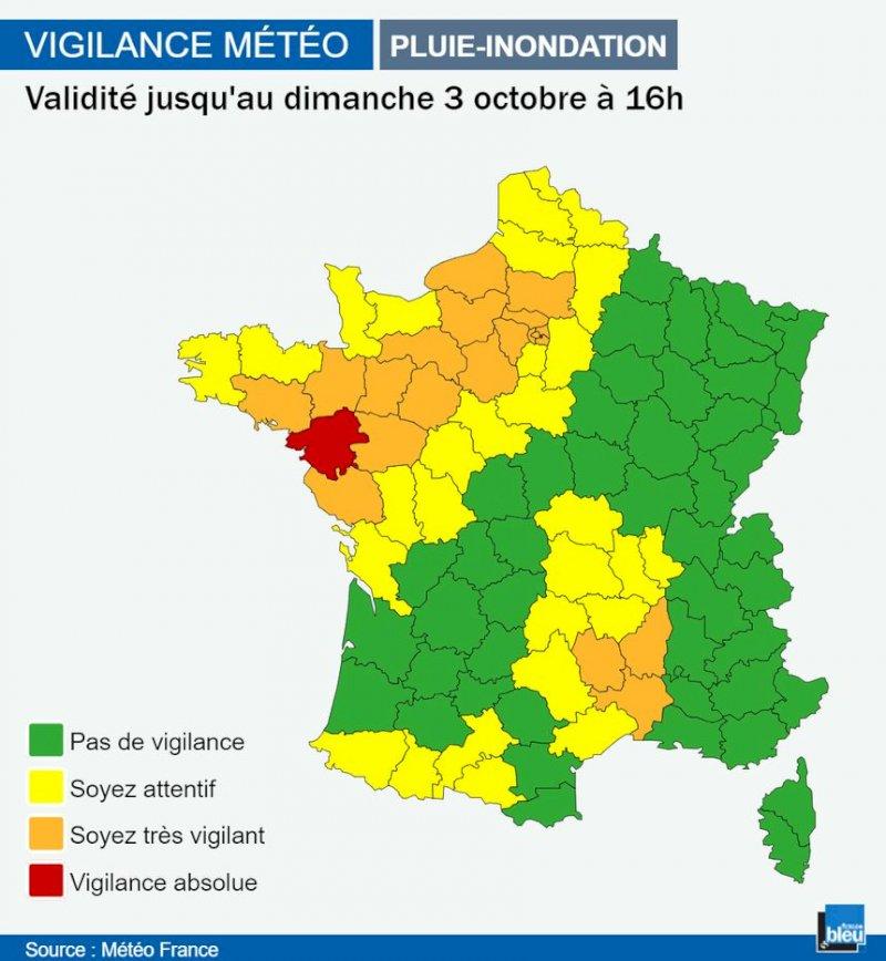 Avis de tempête sur une grande partie de la France pour ce week-end