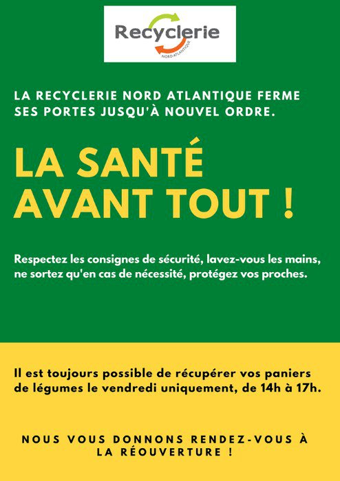 Recyclerie Nord Atlantique [COVID-19]