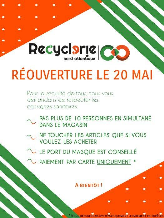La Recyclerie Nord Atlantique rouvre ses portes le 20 mai