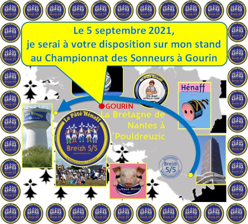 """Dimanche 5 septembre : Retrouverez la boite de pâté Hénaff COLLECTOR """"Breizh 5/5″ et d'autres surprises à Gourin."""