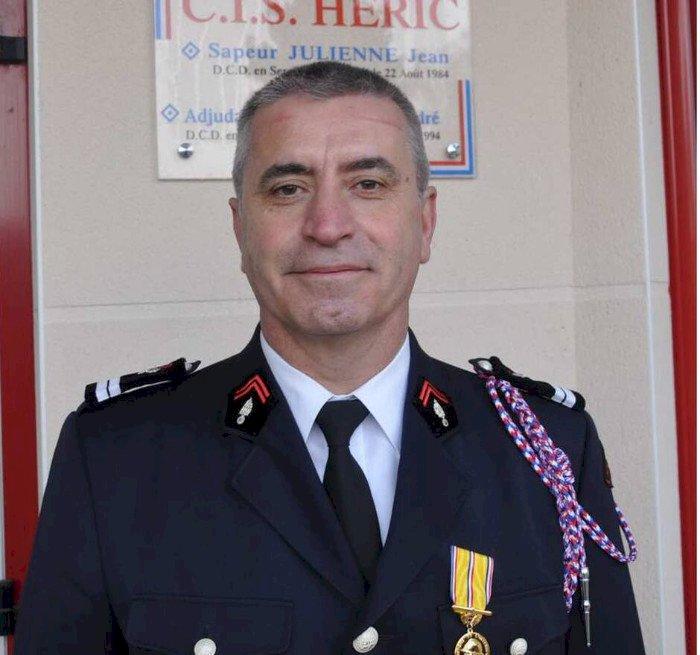 Marc Julienne,  31 ans chez les pompiers
