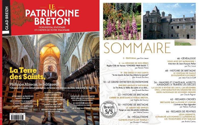 """N°2 de la revue """"Le Patrimoine Breton / Glad Breizh"""" est disponible"""