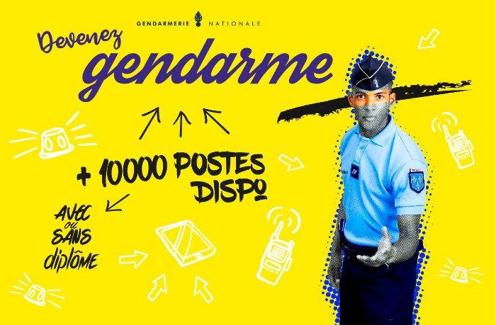 Vous avez de 17 à 35 ans : La Gendarmerie recrute.
