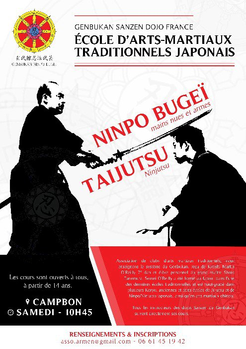 AR MEN - Art Martial Japonais GENBUKAN - A partir de 14 ans