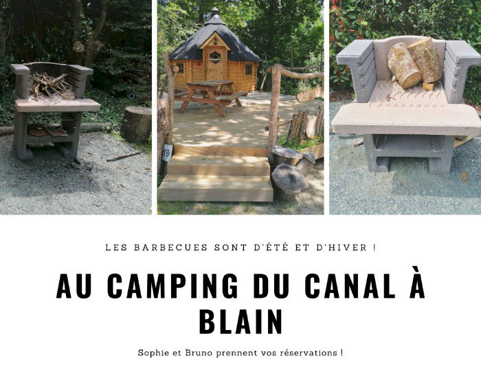 Le Camping du Canal à Blain dispose de plusieurs barbecue
