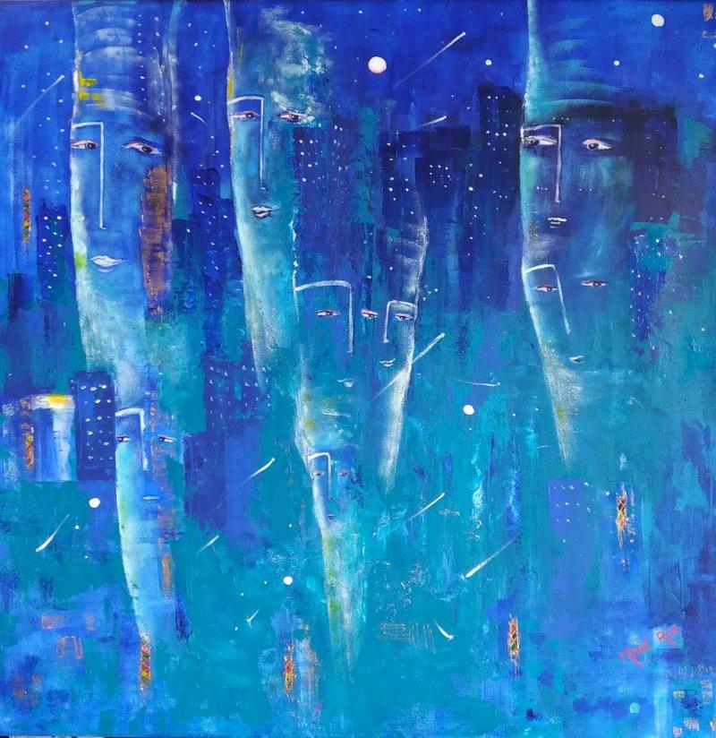 Mahé Ros, peinture : abstraction onirique et totémique
