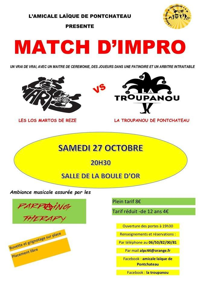 Match d'improvisation Troupanou vs Los Martos