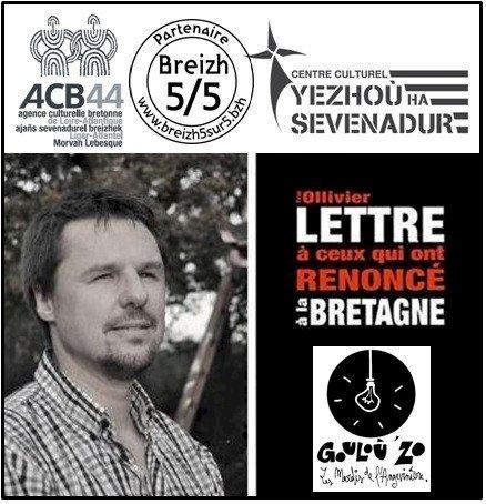 Rencontre-débat avec Yvon Ollivier pour son livre « Lettre à ceux qui ont renoncé à la Bretagne »