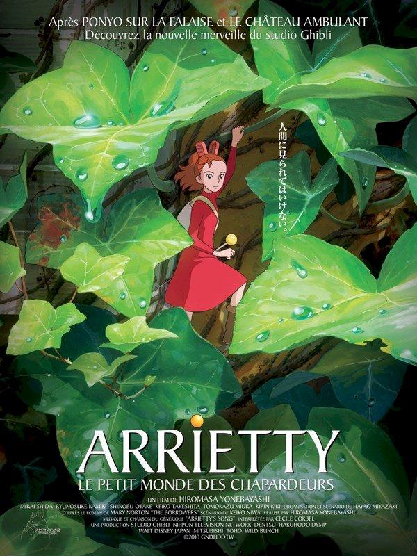 « Arrietty le petit monde des chapardeurs » mon premier film d'animation japonaise
