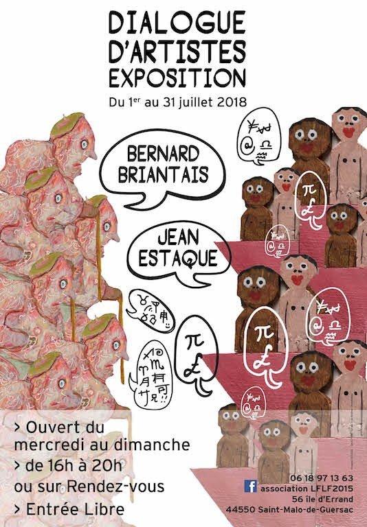 « Dialogue d'artistes » Bernard Briantais et Jean Estaque