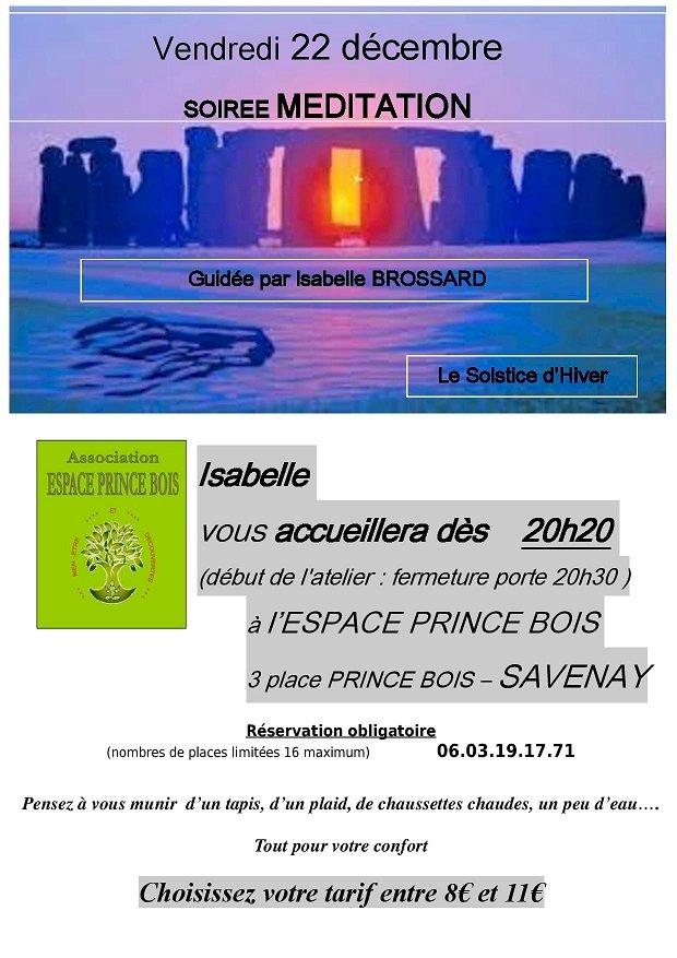 """soirée MEDITATION """"Le Sostice d'Hiver"""""""