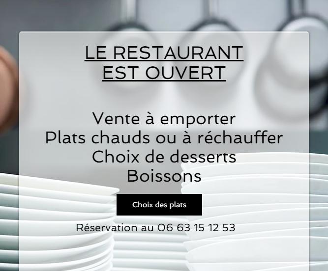 Votre restaurant L'Atelier M à Plessé vous sert sur place ou à emporter !!
