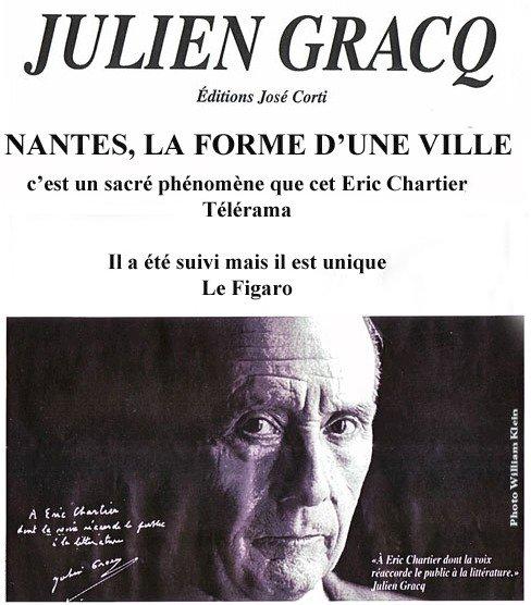 Nantes, la forme d'une ville de Julien Gracq par Eric Chartier