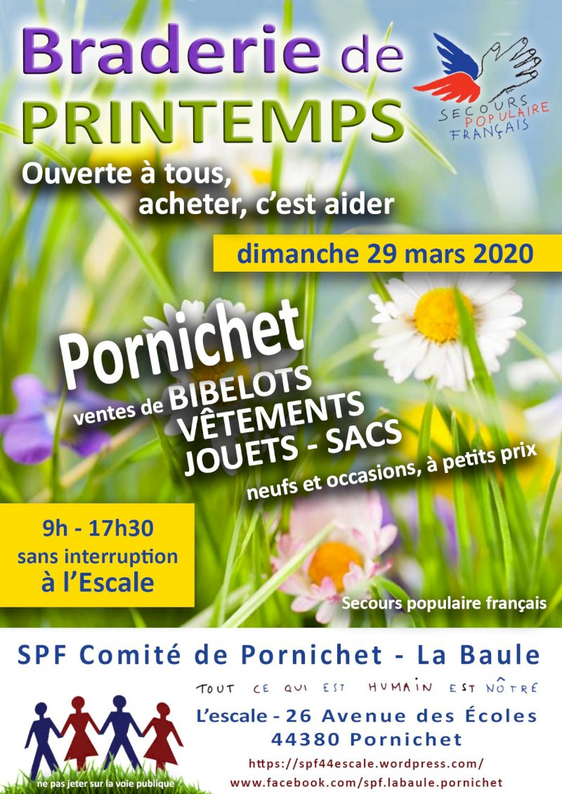 Braderie de printemps du Secours populaire français