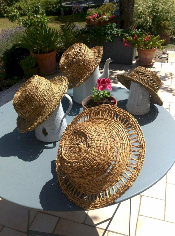 Création d'un chapeau de jonc