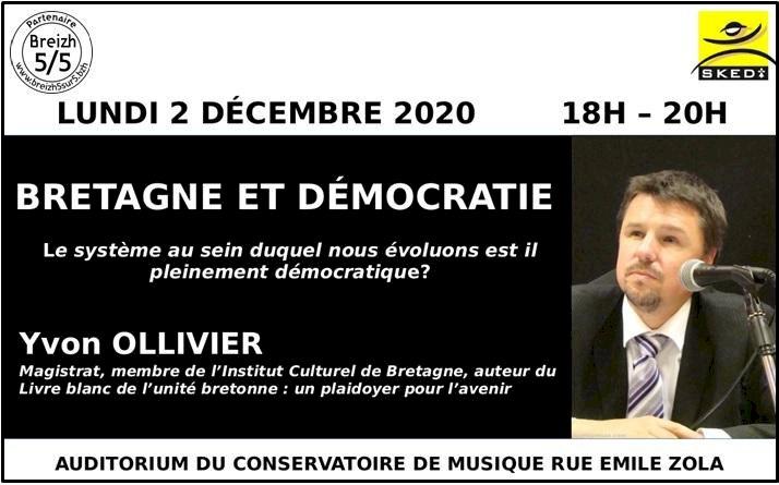 Conférence : Bretagne et Démocratie, Yvon Ollivier, Brest