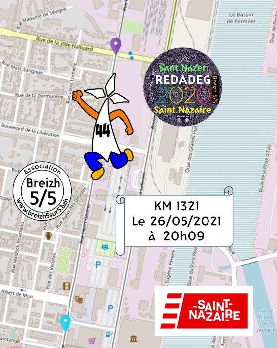 "Km Redadeg de ""Breizh 5/5"" à Saint-Nazaire"