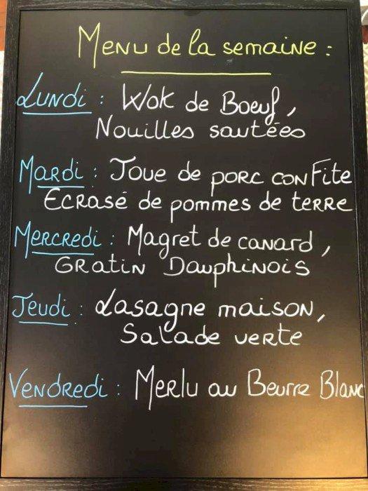 Les plats et menus à emporter de Côte & baie