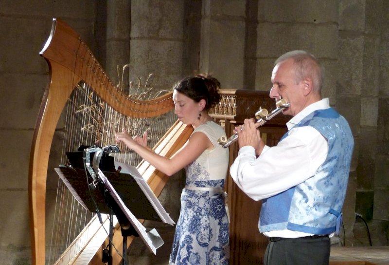Concert Duo Lazuli - flûte et harpe- Yves Brisson et Emilie Chevillard