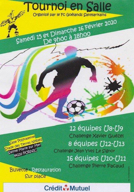 TOURNOI EN SALLE organisé par le FC Goélands Sanmaritains