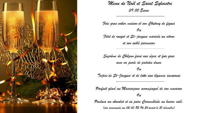 Les menus de réveillons  de vente à emporter de Noël et de Saint Sylvestre de L'escalier gourmand